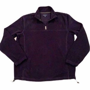 CROFT & BARROW Sweatshirt fleece navy blue 1/4 zip